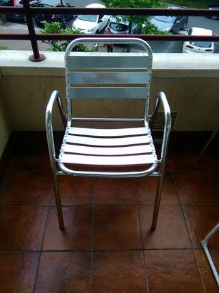 10 sillas de aluminio