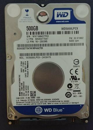 Disco duro WD 500Gb SATA