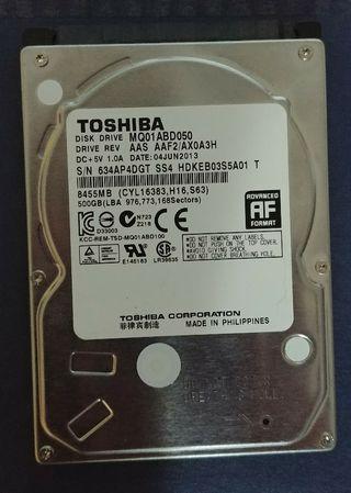 Disco duro Toshiba 500 Gb SATA