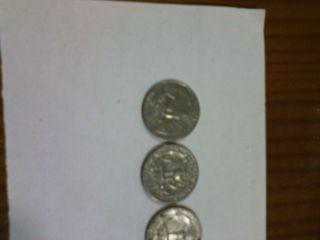 Monedas de un cuarto de dolar