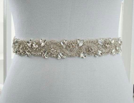 Cinturón de pedrería para el vestido de novia Nuev