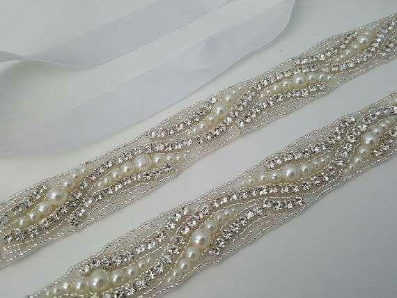 fb3642ccf Cinturón de pedrería para vestido de novia