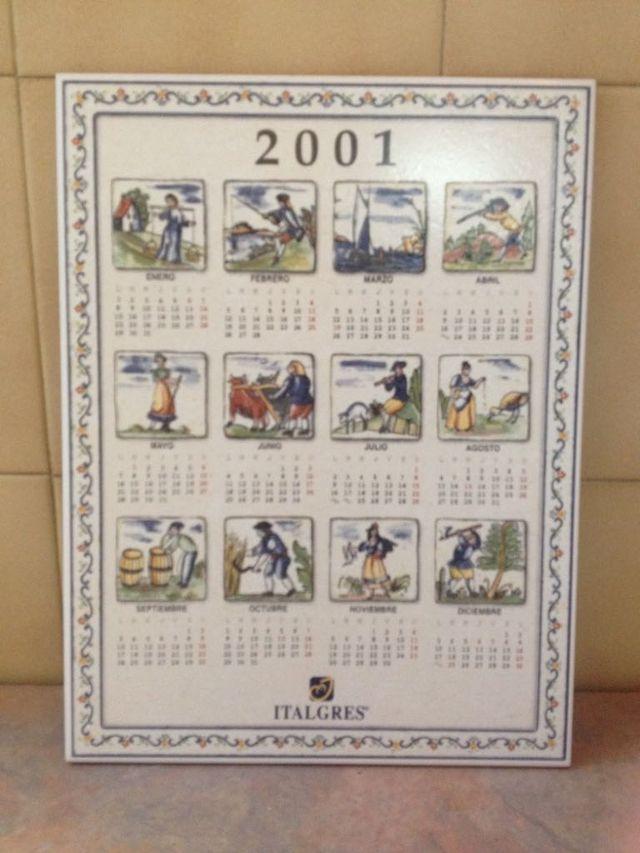 Calendario de cerámica y azulejo del año 2001
