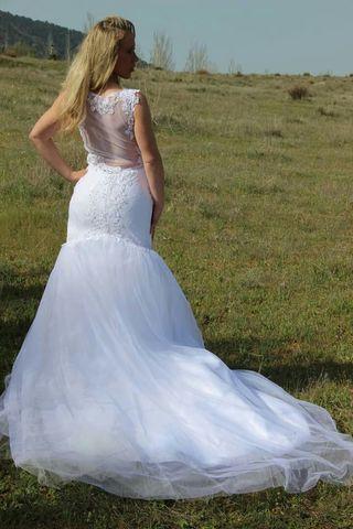 Último precio! Precioso vestido de novia .