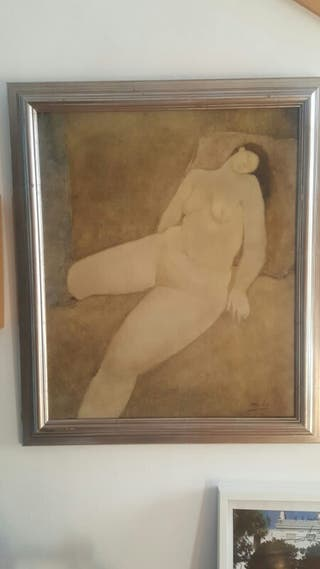 "cuadro ""Desnudo"". Artista Ángel Muriel."