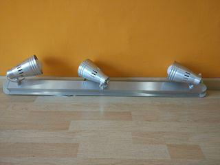 Lampara 3 focos aluminio
