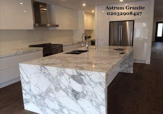 Arabescato Corchia Marble Kitchen Worktop in Londo