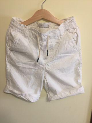 Pantalon corto niño tela blanco talla 7-8 lefties