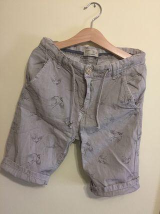 Pantalón corto niño Zara estampado