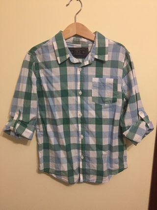 Camisa cuadros niño lefties talla 7-8