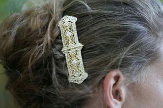 Preciosa peineta de novia ,altísima calidad Nueva!