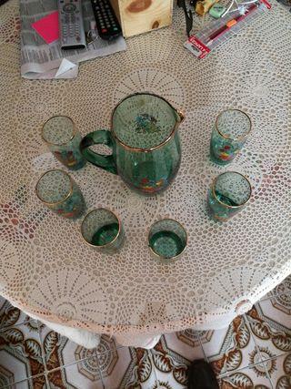 juego 6 vasos y jarra
