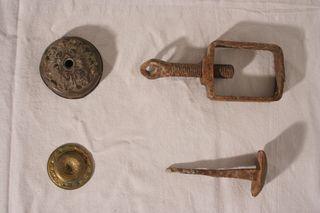 Lote piezas antiguas metal