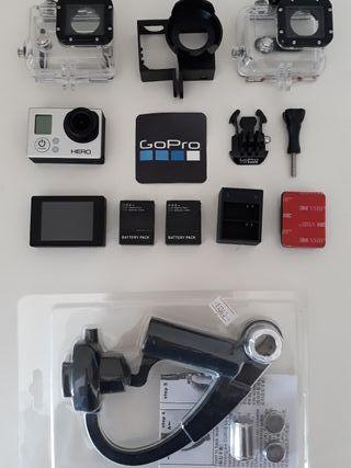 GoPro 3 White + táctil + accesorios