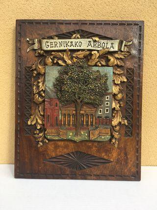 Escudo madera gernikako arbola