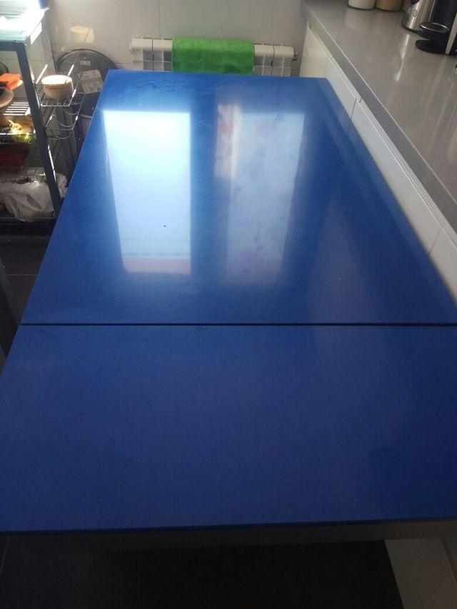 Mesa de cocina de silestone azul 1.10x0.70 de segunda mano por 90 ...