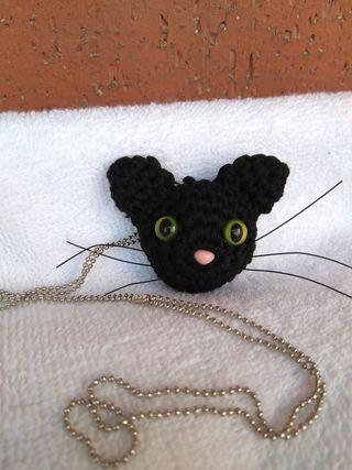 Collar gato ganchillo OFERTA