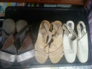 3 sandalias 38