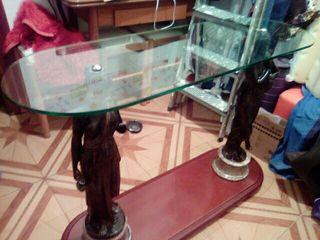 mesa de cristal de dos diosas de el olimpo