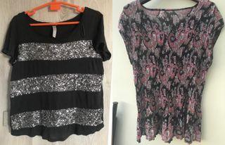 2 Camisetas mujer talla M/L