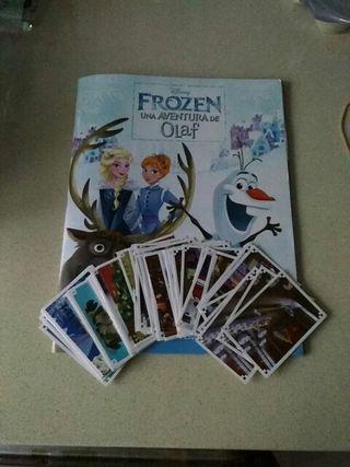 Cromos Frozen una aventura de Olaf