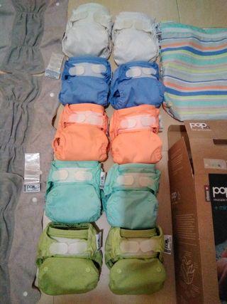 10 pañales pop in mas 3 absorbentes de noche