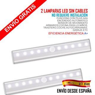 2 Lámparas LED Armario,cocina sensor de movimiento