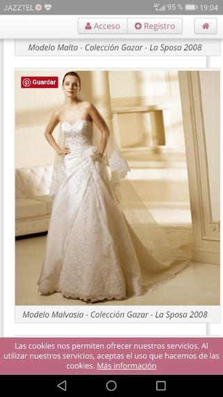 f29499e82 Vestido de novia talla 46 de segunda mano en la provincia de Córdoba ...