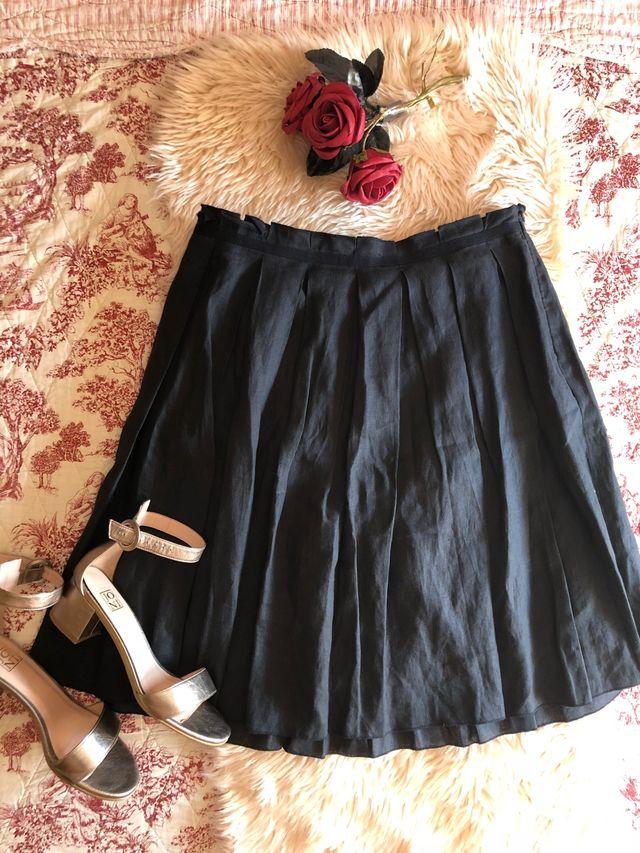 27f9be63e3 Armani Junior original falda lino azul marino niña de segunda mano ...