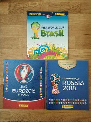Lote 83 albumes Panini Eurocopa y Mundial