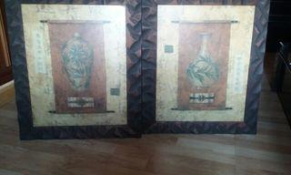 2 Cuadros de Madera (Tablas) preciosos