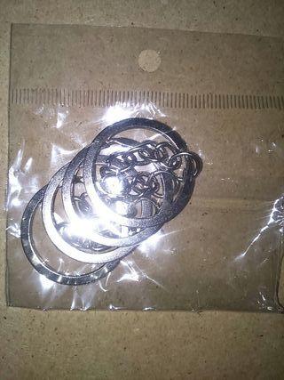 DIY anillas llaveros cadena