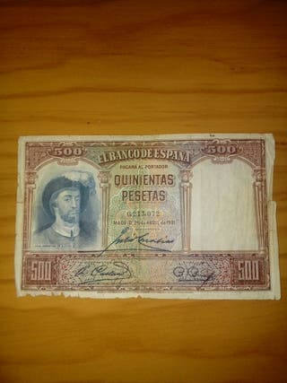 billete de 500 pesetas de 1931