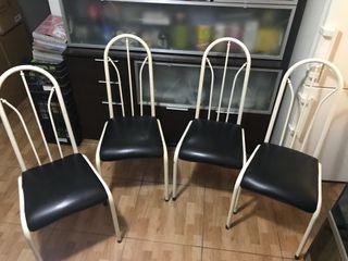 Juego de 4 sillas