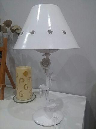 Lampara forja blanca