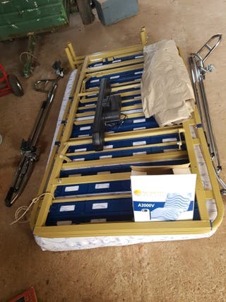 cama articulada+colchon antiescaras