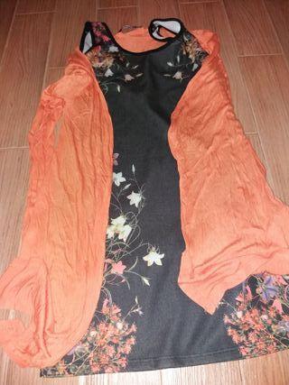 conjunto vestido y rebeca
