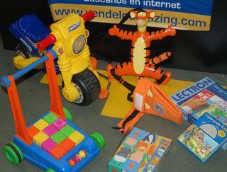 Lote de juguetes infantiles-moto + cochecito y mas