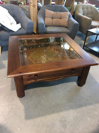 Mesa de centro madera maciza