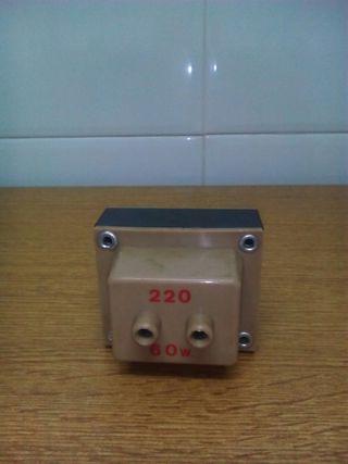 Transformador 125V/220V. 60W
