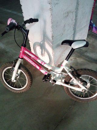 Lote de bicicleta niña con patineta y pizzarra