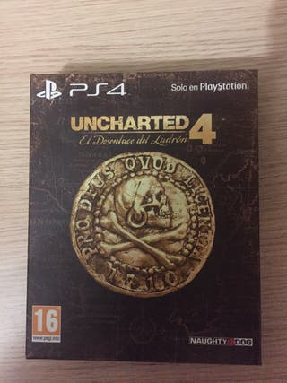 Uncharted 4 Caja Metalica