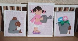 Combinación infantil de 3 cuadros Goma eva