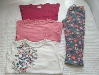 lote 3 camisetas + pantalón T.2-3