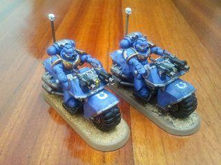 2x Moto ultramarine - Warhammer