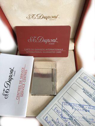 Encendedor S.T Dupont Plaqué Argent G. 925
