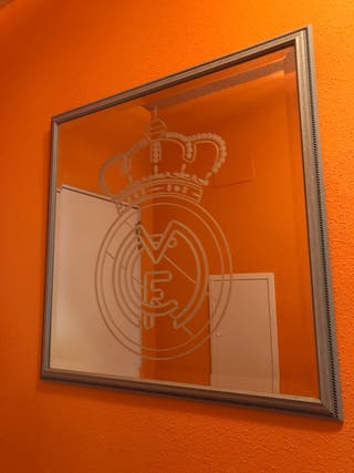 Espejo con escudo del REAL MADRID