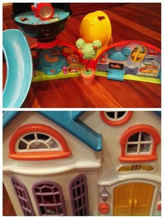 casa de Mickey Mouse y casita de muñecas