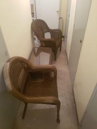 Conjunto terasa.. mesa + 2 sillas