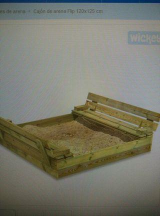 Arenero infantil madera